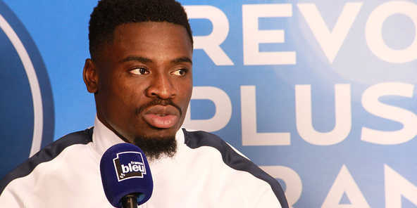 Le footballeur du Paris Saint-Germain, Serge Aurier. © Radio France