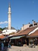 Une mosquée dans le quartier de Bascarsija, à Sarajevo (Bosnie)