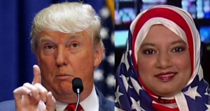 Donald Trump et Saba Ahmed