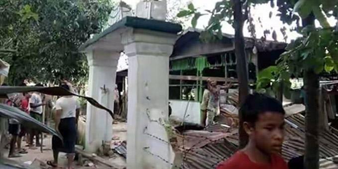 Une mosquée dans le centre de la Birmanie a été détruite jeudi 23 juin par des villageois bouddhistes.