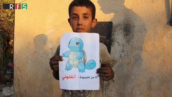 Pokémon Go utilisé pour alerter le monde sur le sort des Syriens