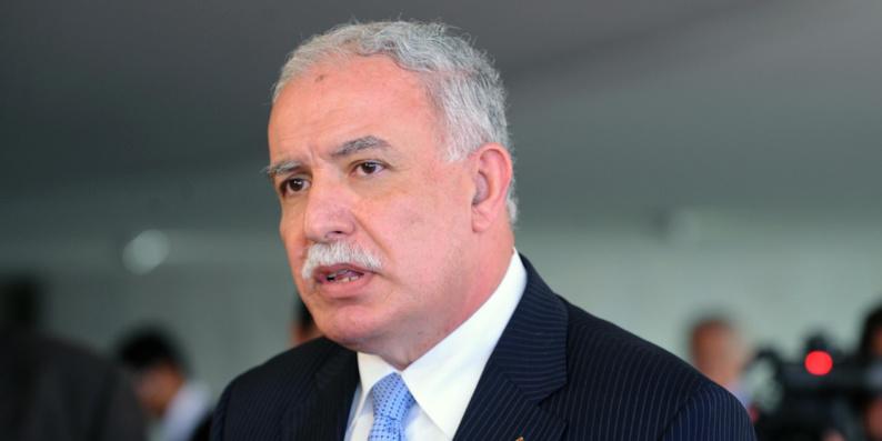 Riyad al-Maliki, ministre des Affaires étrangères de Palestine.