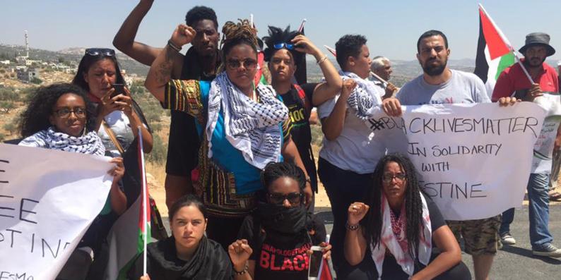 Une délégation de Black Lives Matter à Bil'in en soutien aux Palestiniens