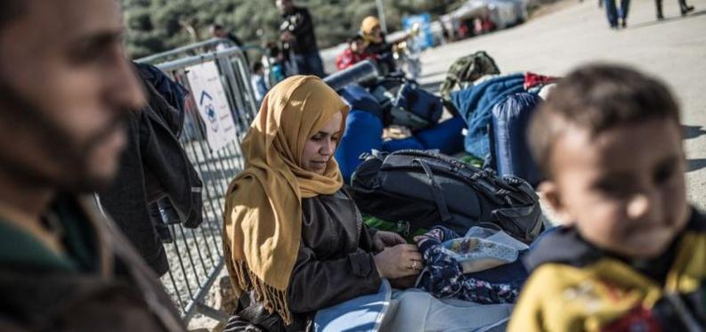 Les réfugiés qui débarquent du Moyen-Orient se retrouvent en grand nombre dans l'île grecque de Lesbos. © Pablo Tosco/ Oxfam Intermón