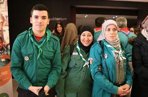 Membres des Scouts musulmans de France lors du 25e anniversaire du mouvement.
