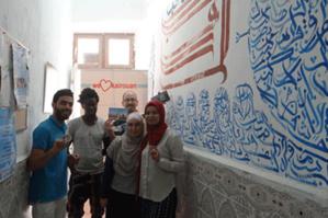 Avec les membres de l'ONG We Love Kairouan.