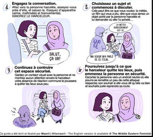 Un guide en BD pour faire face aux harcèlements islamophobes