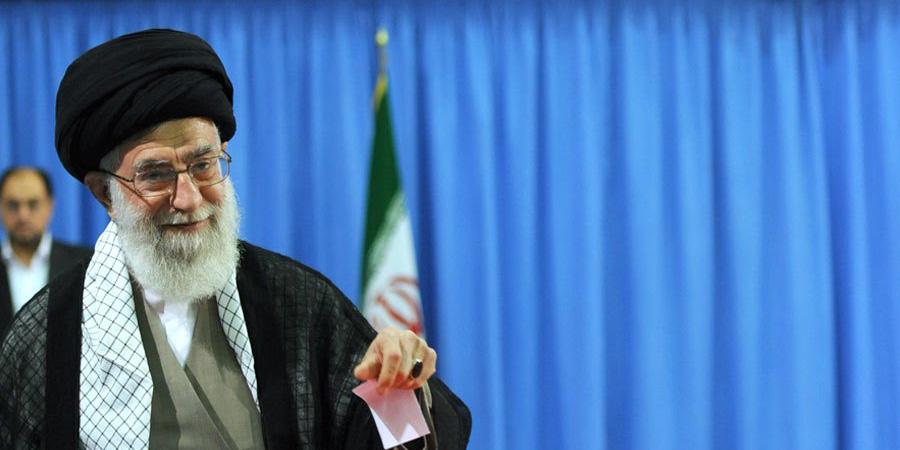 L'ayatollah Ali Khamenei, guide religieux suprême de l'Iran.