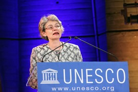 Irina Bokova, présidente de l'Unesco.