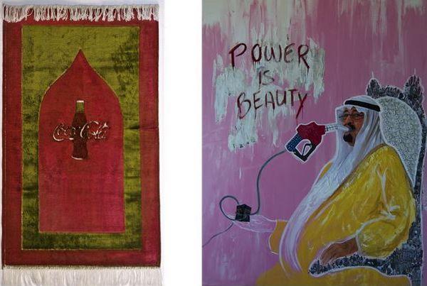 « New spirit » à gauche, « Power is beauty » à droite, par Sonia Merazga.