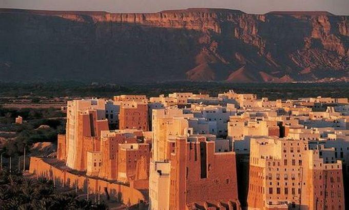 Ancienne ville de Shibam (Yémen) et son mur d'enceinte. © Unesco/Editions Gelbart