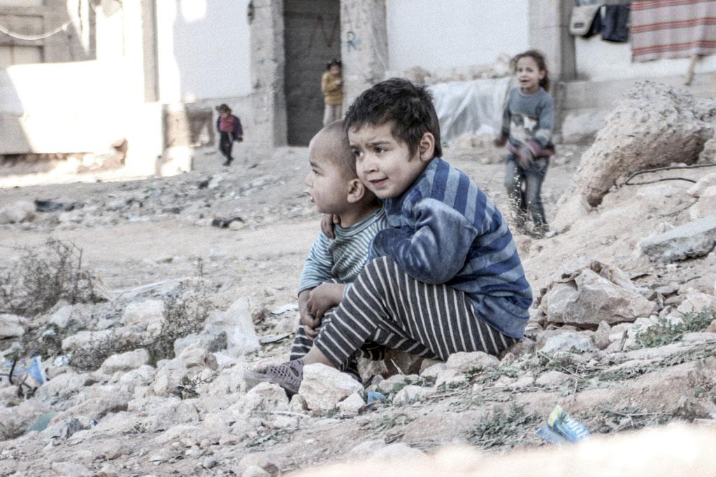 Photo d'enfants syriens prise à Alep. © Unicef