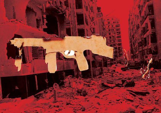 Tableau de l'artiste syrien en exil Tammam Azzam.