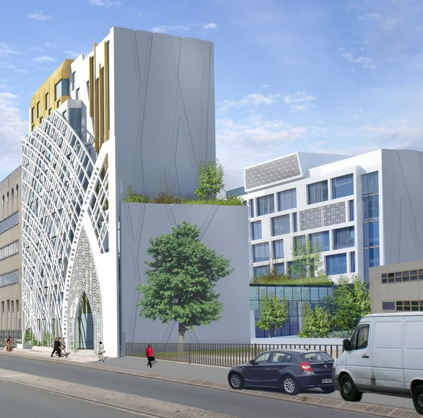 La façade de l'IESH telle que conçue dans le projet.