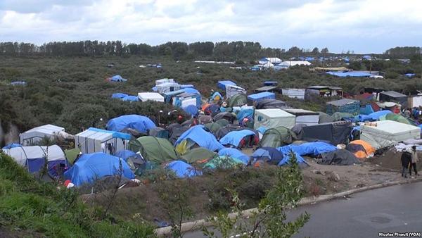 """""""Jungle"""" de Calais - octobre 2015"""