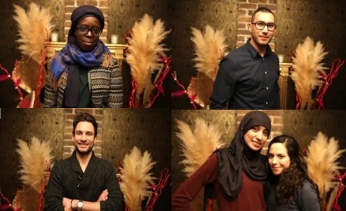 Les quatre finalistes de la StartUpper Academy en Seine-Saint-Denis. En haut : Fatoumata Kebe (Connected Eco) et Akacha Dahmani (Carto-SI). En bas : Julien Mousseau (Tracktor) et Maâde Guettouche (CoPélican).