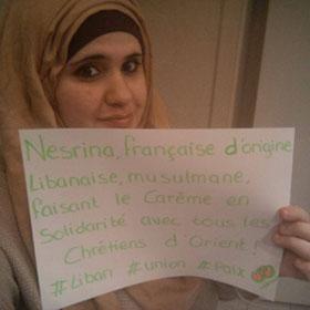 Nesrina Basma, musulmane, fait le carême en solidarité avec les chrétiens d'Orient.