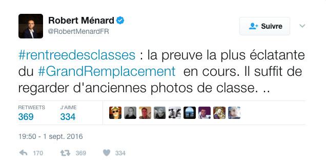 Robert Ménard condamné pour ses propos sur le « grand remplacement »