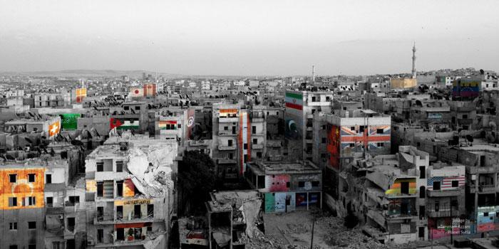 « Flags », œuvre de l'artiste syrien Tammam Azzam.