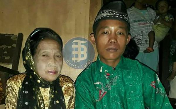 Indonésie : à 15 ans, il se marie avec une femme de 71 ans (vidéo)