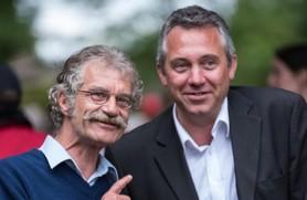 Joachim Moyse (à droite) et son prédécesseur Hubert Wulfranc.