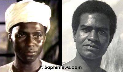 Johnny Sekka (version anglais, à gauche) et Ali Ahmed Salem (version arabe).