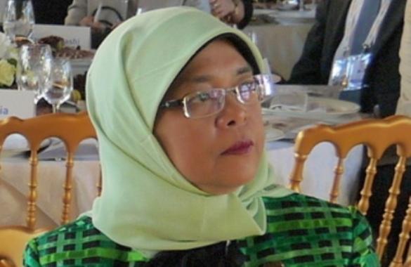 Halimah Yacob, nouvelle présidente de Singapour.