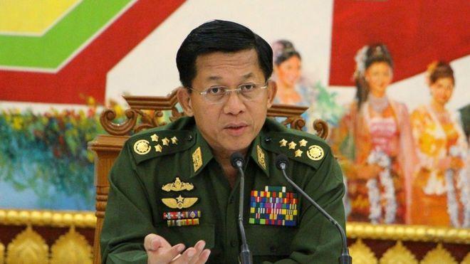 Le général Min Aung Hlaing, chef de l'armée birmane.