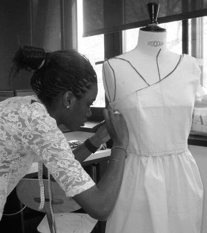 Alice Mbayi a appris le modélisme au lycée Elisa-Lemmonier, à Paris. (Photo : © Alice Mbayi)