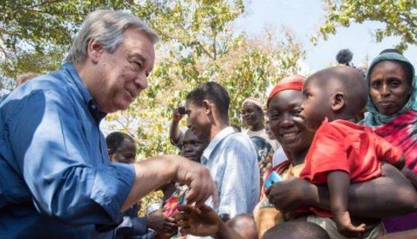 La visite du secrétaire général de l'ONU, Antonio Guterres, en visite en Centrafrique pour qui il réclame l'aide de la communauté internationale face aux violences qui minent le pays depuis plusieurs années. © Twitter/ONU