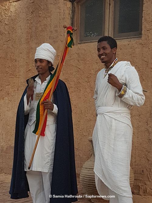 Ethiopiens présents lors du rassemblement qui a réuni 200 chrétiens au Caire.