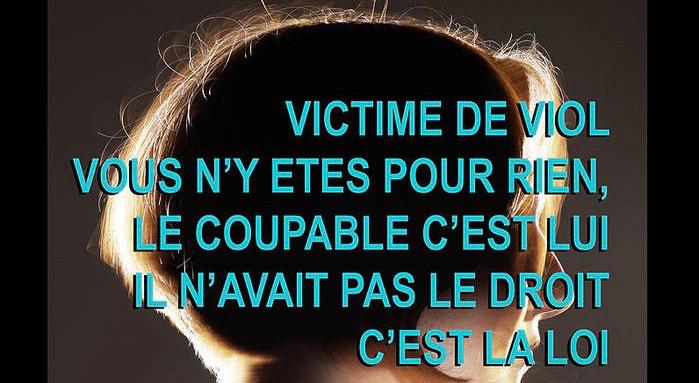 Affiche du Collectif féministe contre le viol.