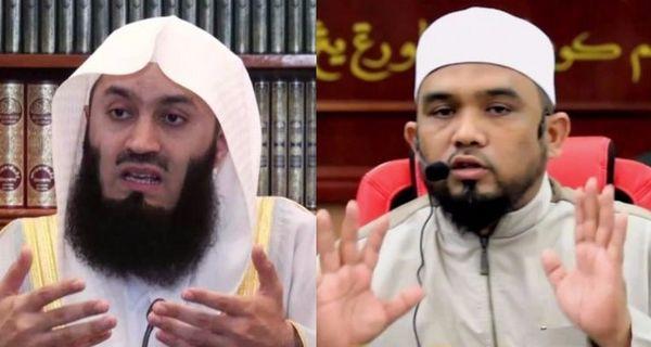Deux prédicateurs musulmans, Ismail Menk (à gauche) and Haslin Baharim, ont été interdits d'entrée à Singapour en raison de leurs propos intolérants envers les non-musulmans. (Youtube)