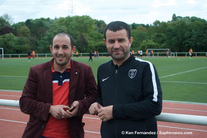 Karim et Abdenour, deux des historiques du C.S. Berbères, club qui promeut la culture kabyle.