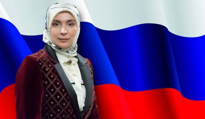 Ayna Patimat Gamzatova, ici à l'image, a décidé de porter sa candidature à l'élection présidentielle de Russie de mars 2018 à laquelle Vladimir Poutine, au pouvoir depuis 18 ans, est désigné comme le grand favori.