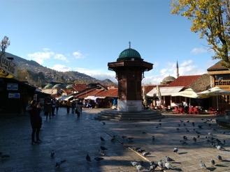 La fontaine Sebilj, à Sarajevo. © Saphirnews.com
