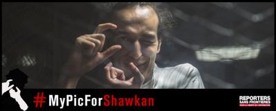 Le prix mondial de la liberté de la presse à Shawkan, en prison en Egypte