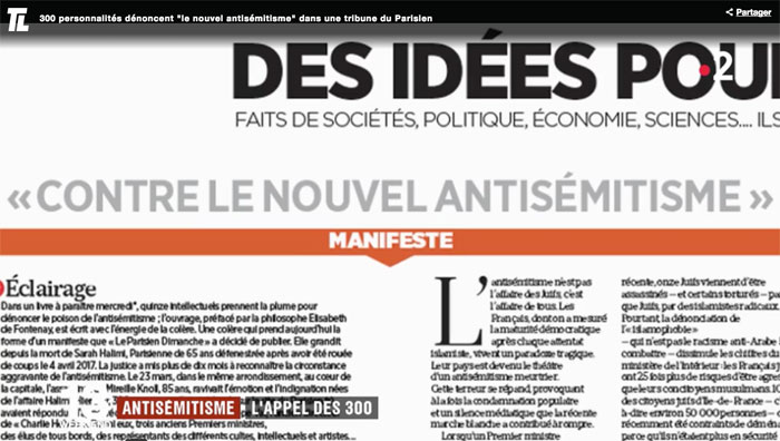 Manifeste contre l'antisémitisme : l'impossible union sacrée