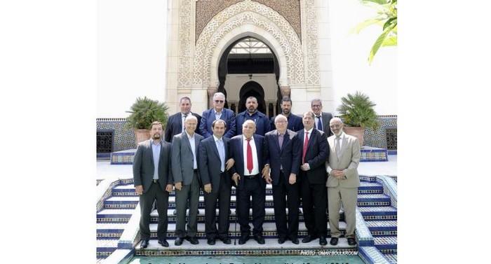 Les représentants des grandes fédérations musulmanes de France, ici à l'image, se sont réunies mardi 15 mai à la Grande Mosquée de Paris pour annoncer la date du début du Ramadan. © Omar Boulkroum