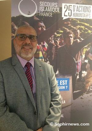 « Je me définis comme un humanitaire universel, certes musulman mais non prosélyte. J'ai toujours été sensible à la fragilité et à la misère », Rachid Lalhou, président-fondateur du Secours islamique France.