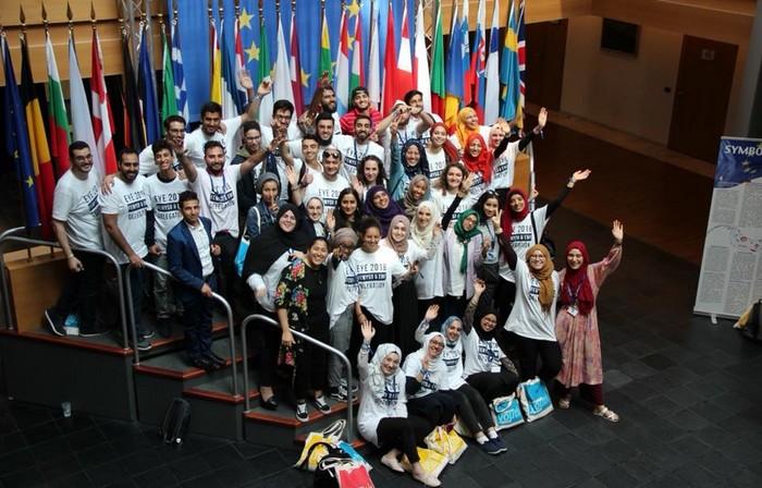 La délégation du Forum européen des organisations musulmanes de jeunes et d'étudiants (FEMYSO) et d'Etudiants musulmans de France (EMF) était présente à la Rencontre des jeunes européens organisée à Strasbourg du 1er au 2 juin au Parlement européen. © FEMYSO