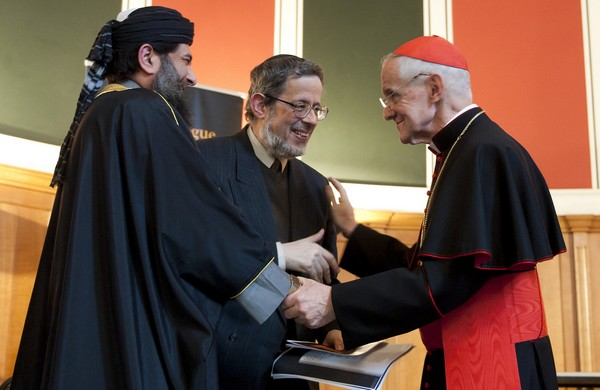 Le cardinal Jean-Louis Tauran, lors de la rencontre interreligieuse « Together in Prayer for Peace », en juin 2013, en Grande-Bretagne. (© Mazur/Catholic News)