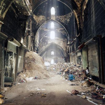 Image 3D du souk d'Alep, en Syrie. (Photo : ICONEM /DGAM)