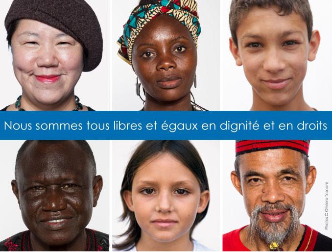 Visuel de la campagne #standup4humanrights lancée par les Nations unies à l'occasion des 70 ans de la Déclaration universelle des droits de l'homme.