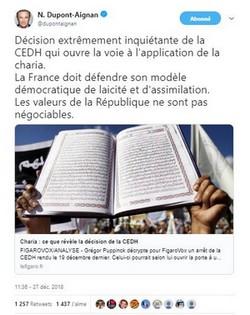 Intox : la CEDH n'a pas ouvert la voie à l'application de la charia en Europe