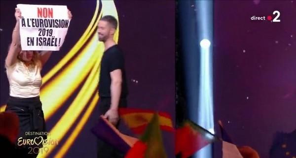Eurovision 2019 en Israël : des militants BDS investissent le plateau de France 2 en direct