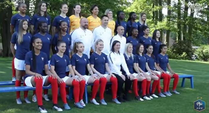 La photo officielle de l'équipe de France féminine pour la Coupe du monde 2019. © Capture d'écran/FFF