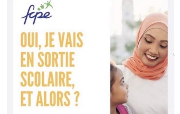 Laïcité : une affiche de la FCPE défendant le droit des mères voilées aux sorties scolaires critiquée