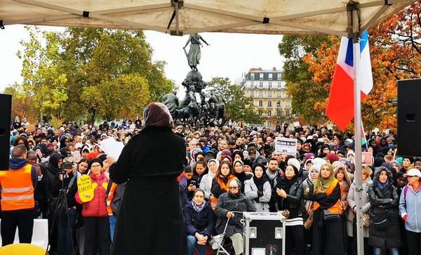 Un rassemblement contre l'islamophobie a été organisé dimanche 27 octobre à Paris, place de la Nation. © Facebook /I. Nguyen