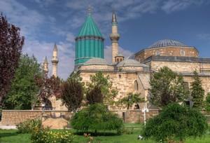 Le Musée Mevlana, dédié à Rumi,, à Konya.